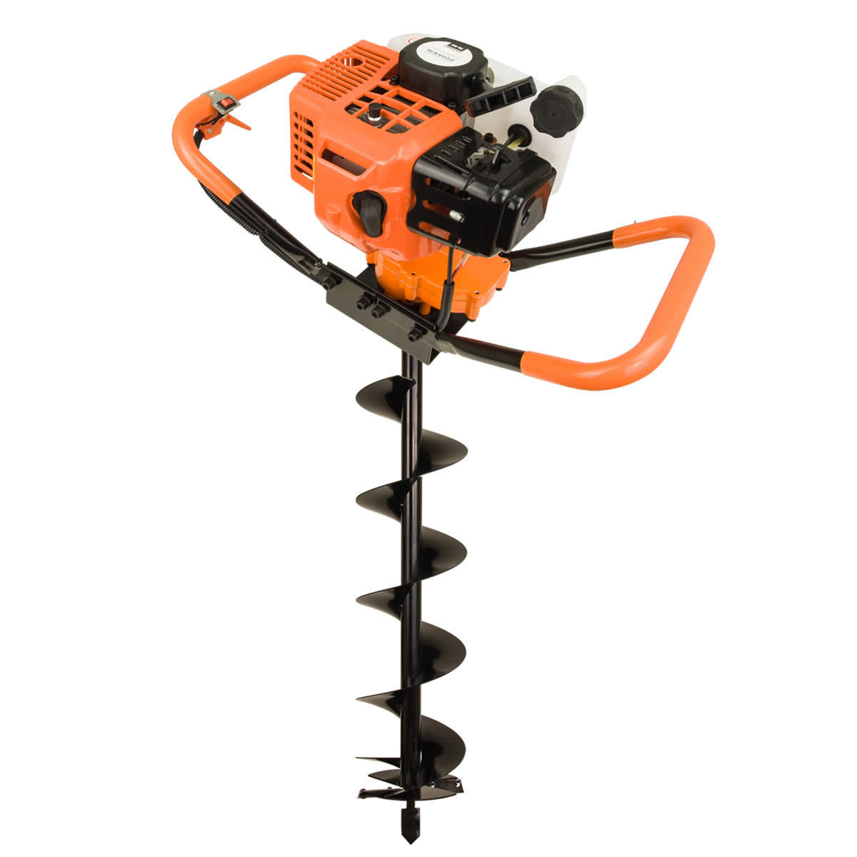 72cc post hole digger auger petrol drill bit fence earth borer by horti power ebay. Black Bedroom Furniture Sets. Home Design Ideas